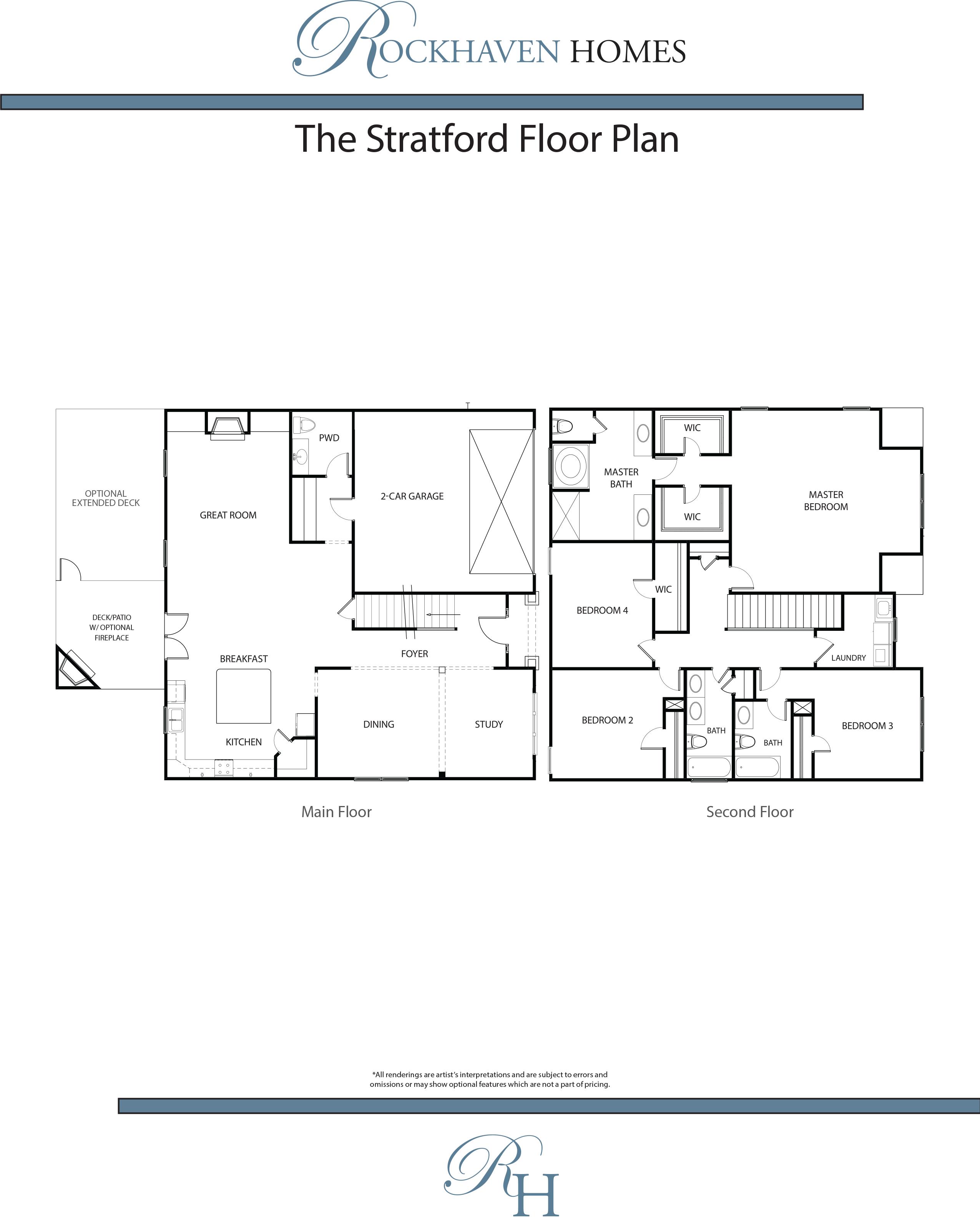 The stratford rockhaven homes for Stratford homes floor plans