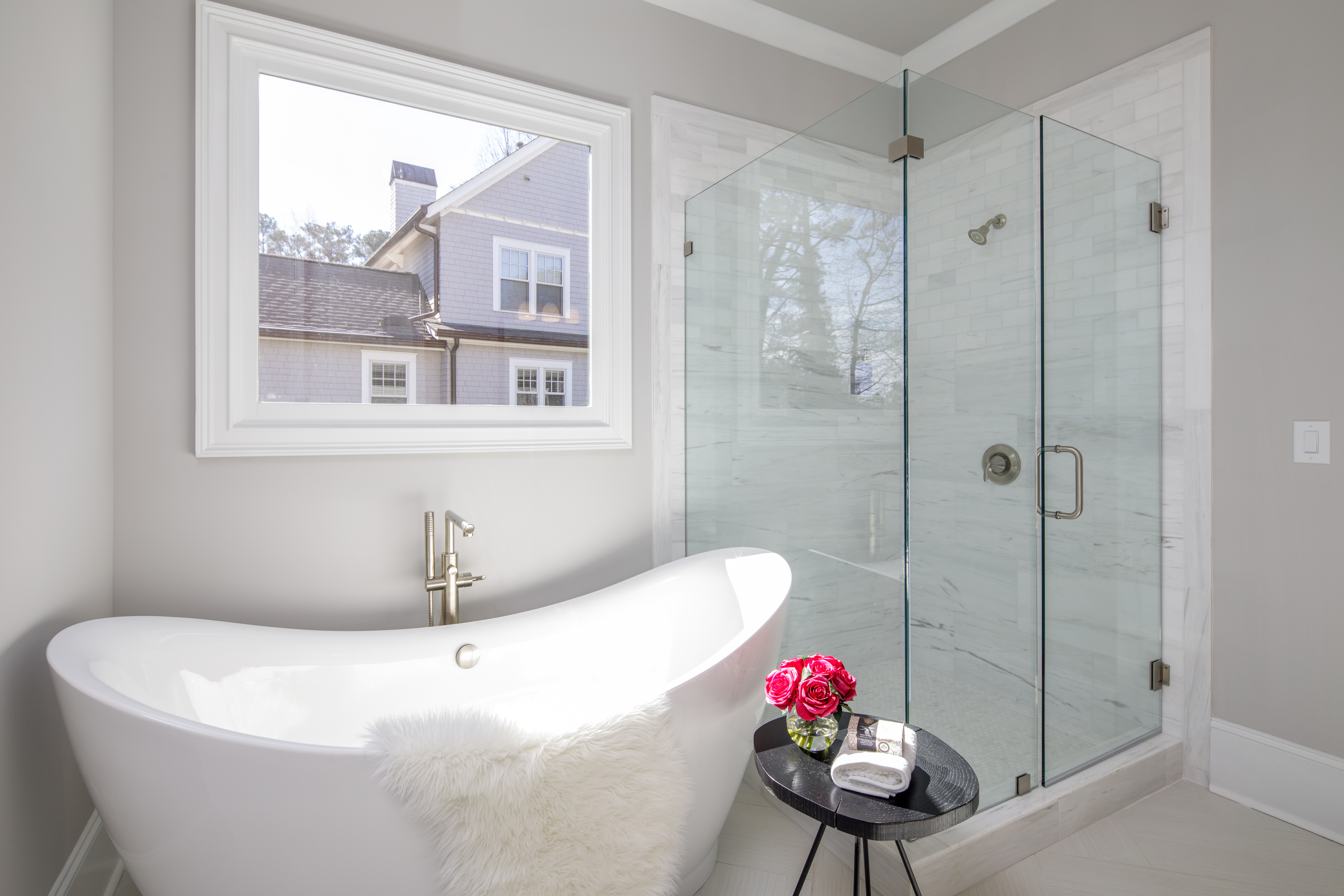 Garden tub in West Roxboro home by Rockhaven Homes
