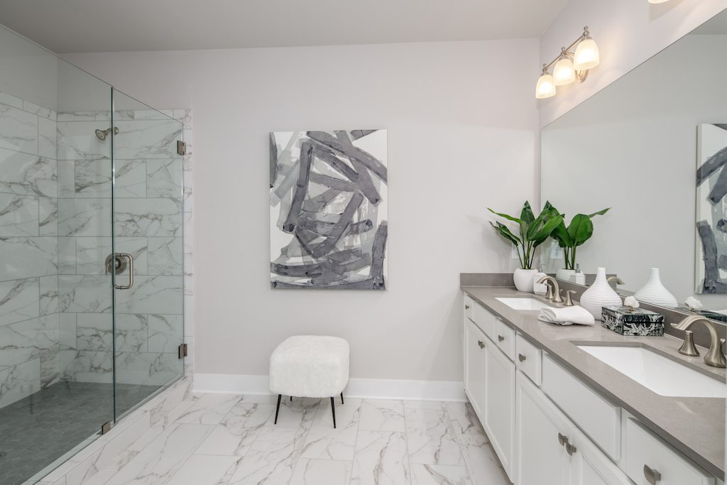 Create a tranquil master bath in your new Rockhaven Home