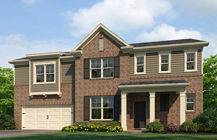 The 3-bedroom Stonecrest floor plan of Phillips Trace.