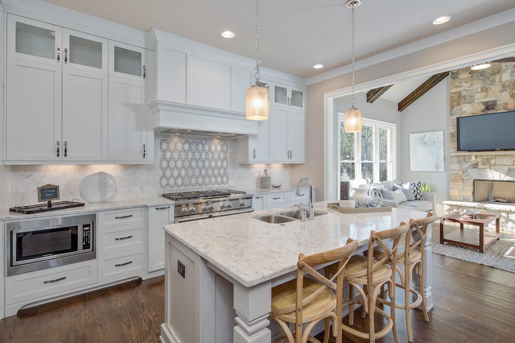 Bold backsplash makes an impression in this kitchen at Citadella