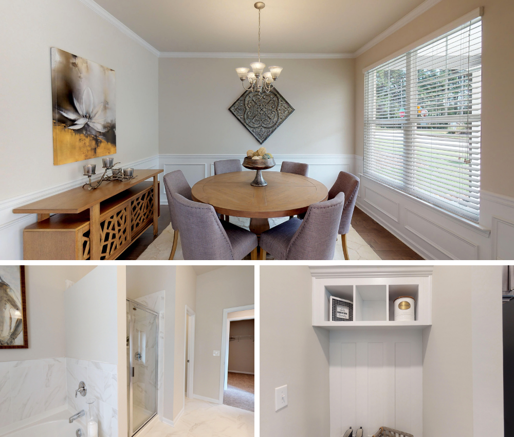 Exquisite details in the newly decorated model home in Phillips Trace