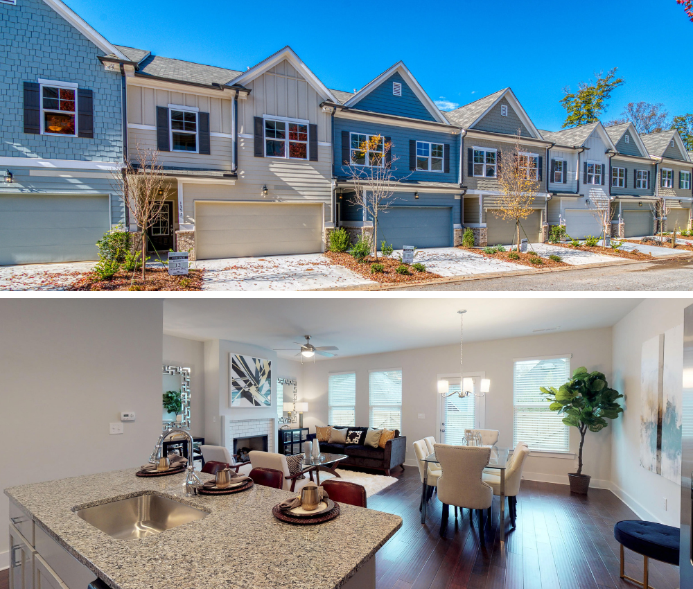 Find your new East Atlanta home among the charming 2-story townhomes in Heights at Grant Park