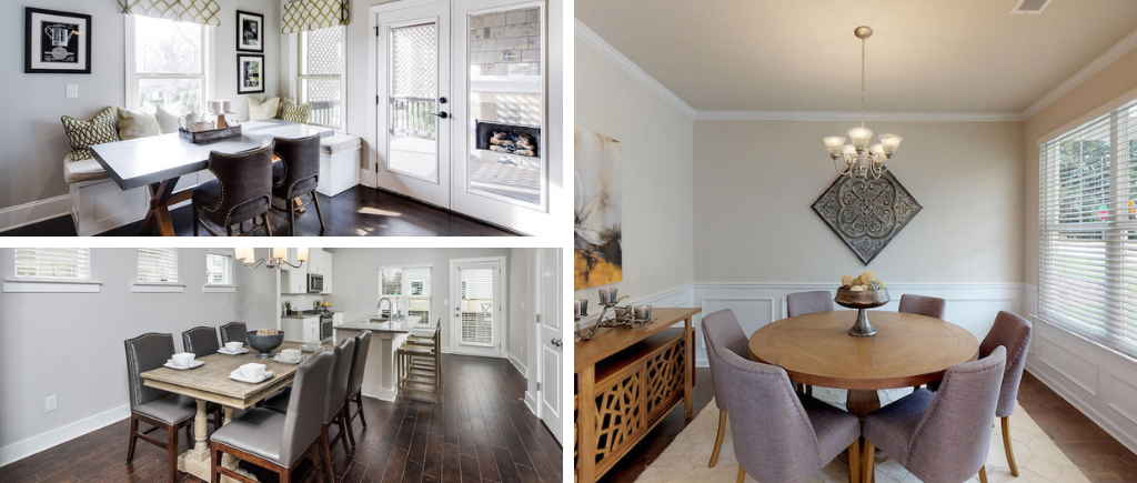 From a formal room to a charming nook, dining rooms take many shapes in today's floor plans.
