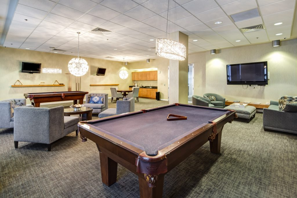 The clubhouse amenity at Cosmopolitan - Intown Atlanta homes by Rockhaven