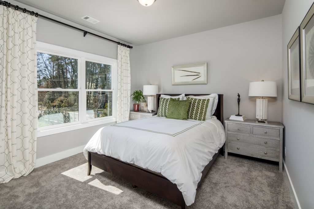A guest room in a Park Chase home
