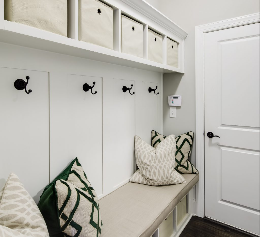 Built-in shelving is a great summer home feature in Park Chase