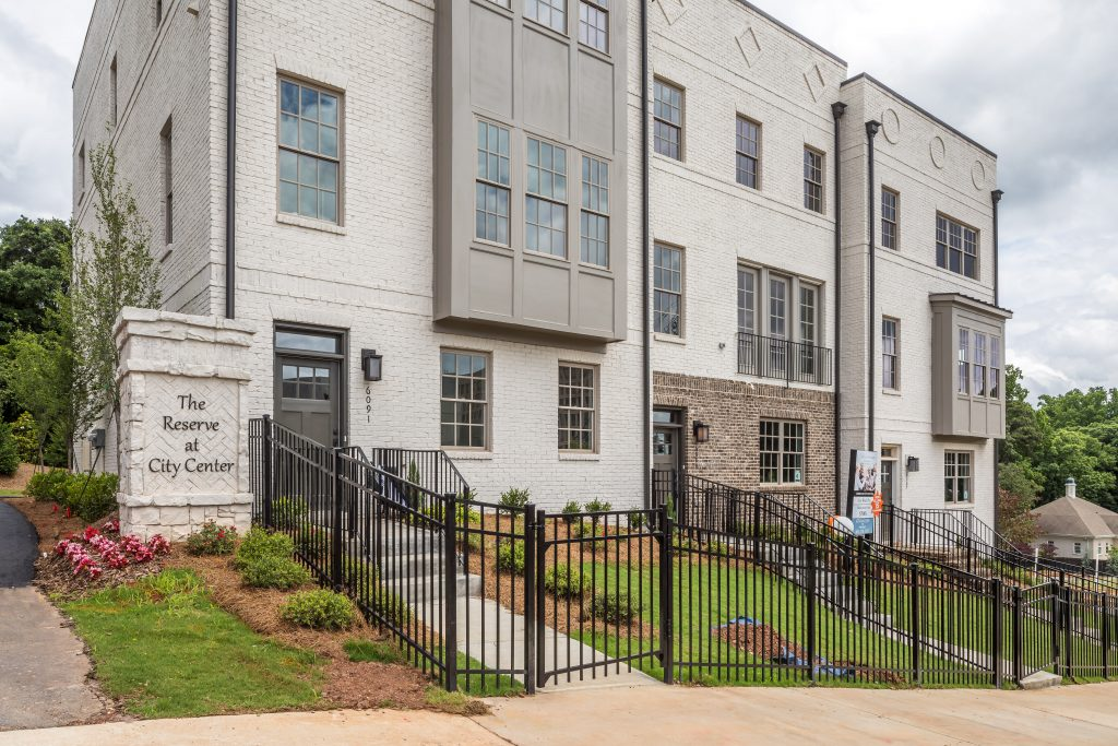 The townhomes at Reserve at City Center