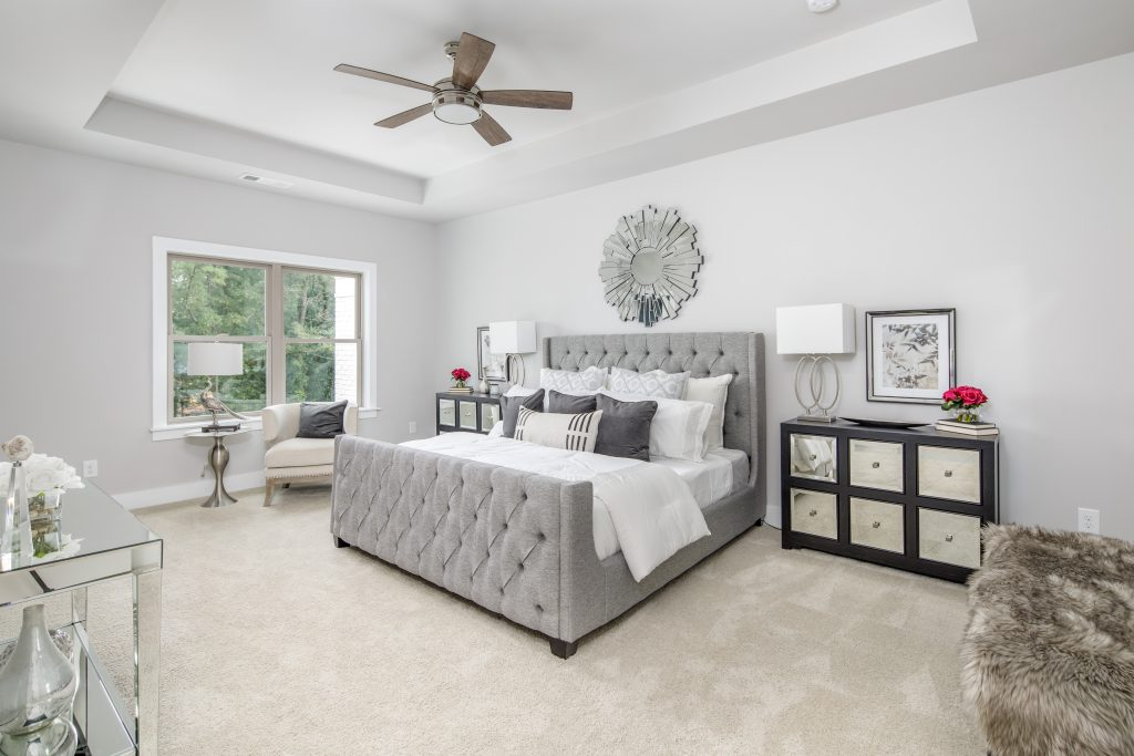 Trey ceilings in The master bedroom in Reserve at City Center
