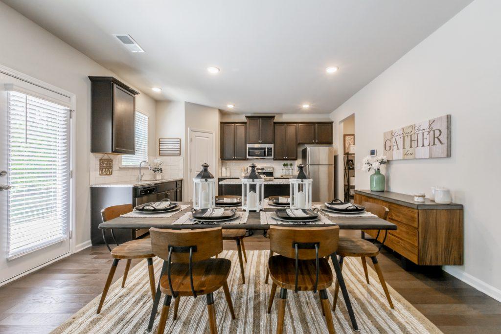 A kitchen in a new home near Atlanta in Riverwalk Trace