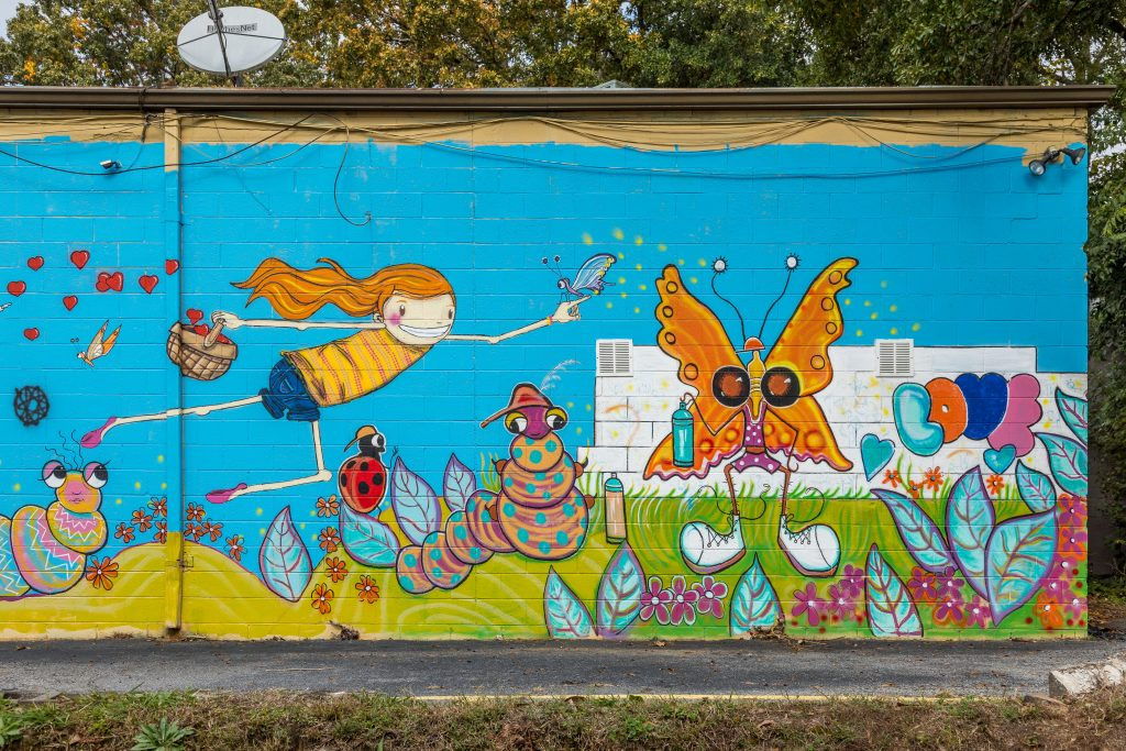 Street art in East Atlanta Village