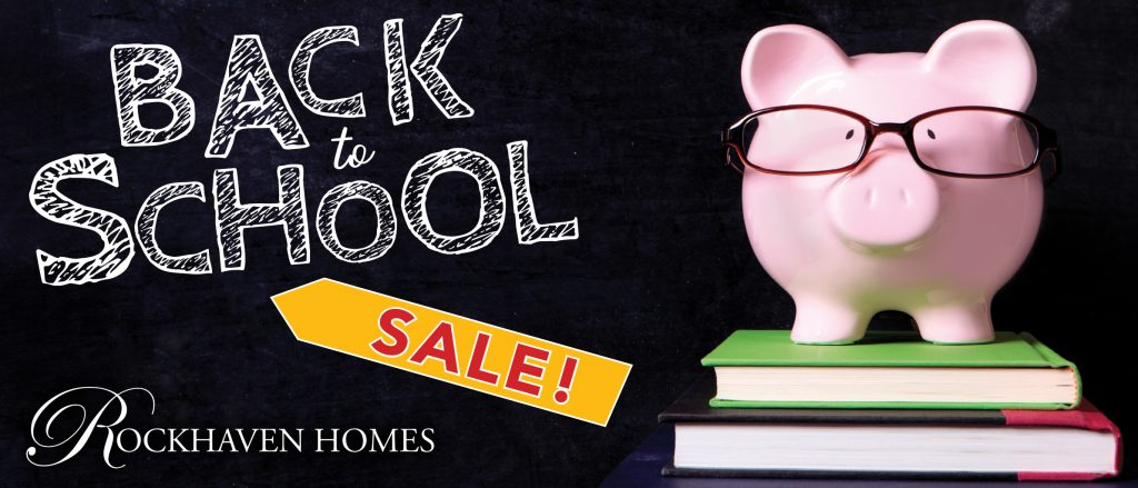 Don't miss the back to school incentives ending soon for Rockhaven Homes