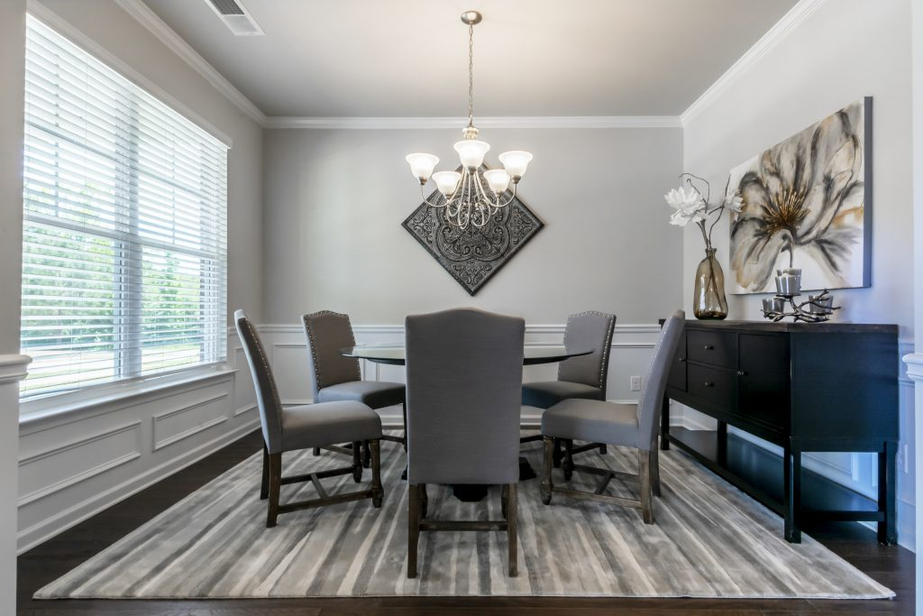 New construction homes in Riverwalk Trace have dining rooms you'll love