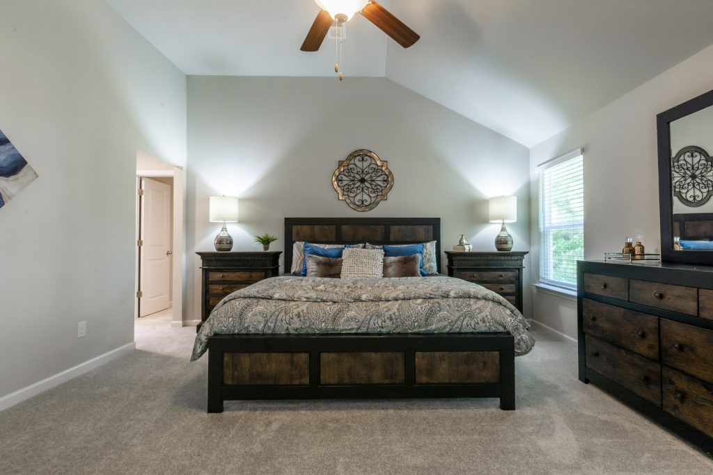 Master bedroom in Keswick Estates home in Jonesboro GA