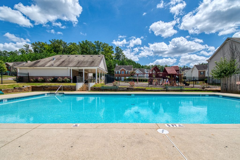 Relax by the pool in High Grove - new south Atlanta townhome community