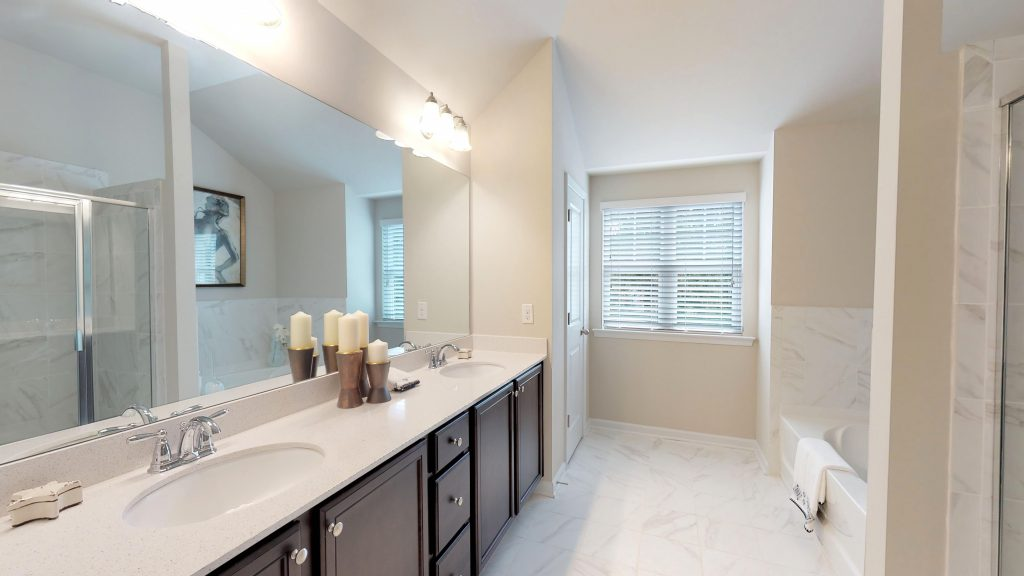 A master bathroom in Phillips Trace