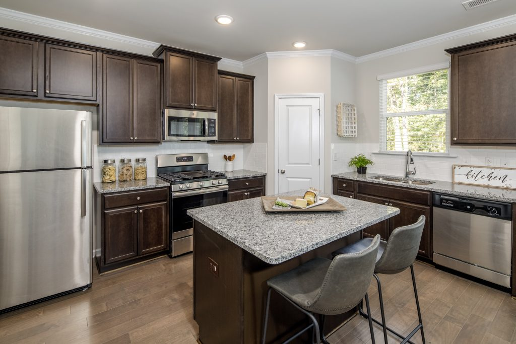 a kitchen in an affordable new home at High Grove