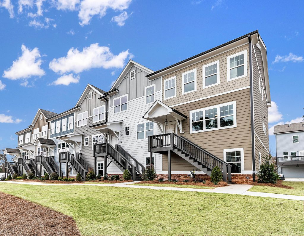 New townhomes in Kensington Gates