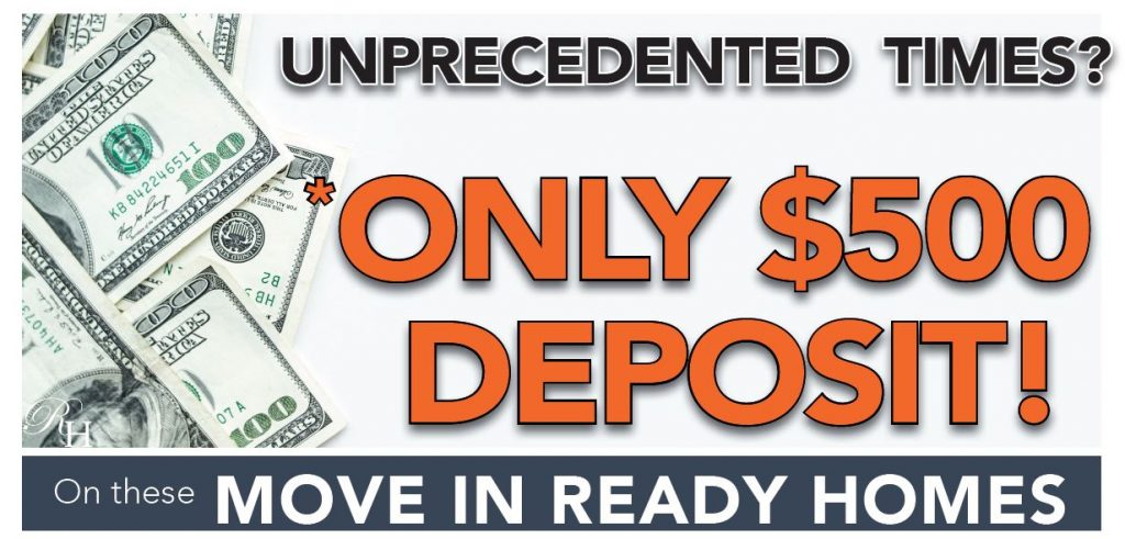 $500 deposit on select Rockhaven Homes