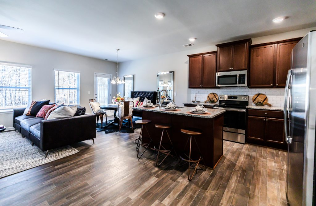 Lakeview at Stonecrest will feature new construction townhomes like this Astin floor plan