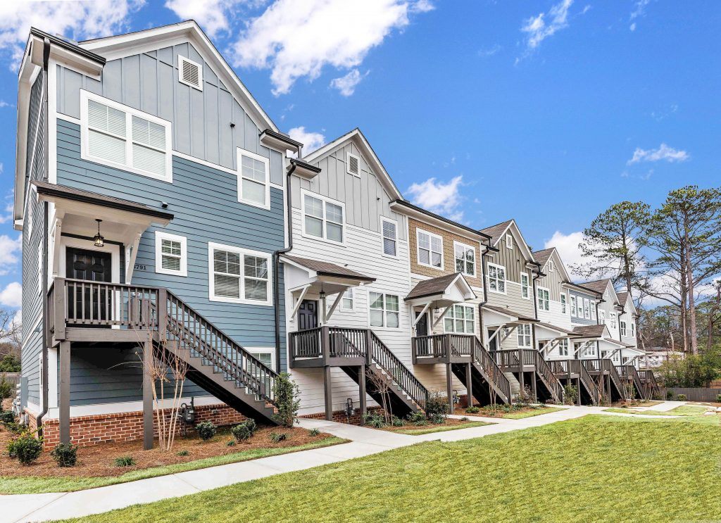 kensington Gates is a gorgeous new construction townhome community near Atlanta