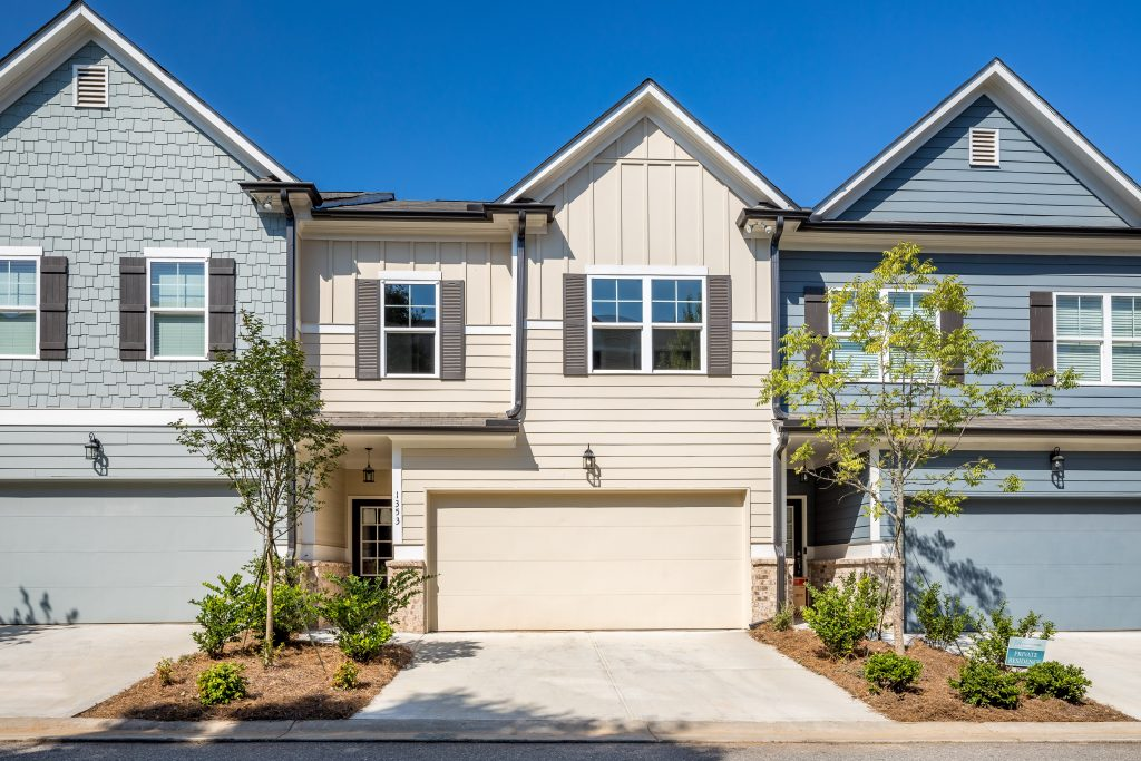 parking is easy in one of the townhomes for sale in heights at grant park