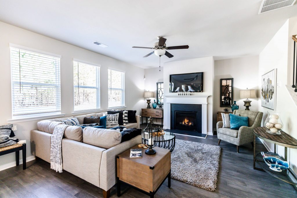 High Grove Living Room - Clifton Floor Plan, a new Atlanta single family home