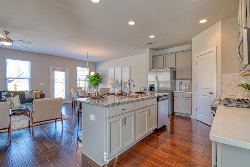 an outfitted kitchen in heights