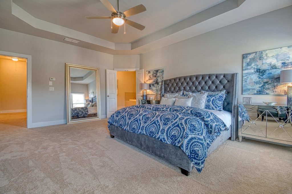 the owners suite in a heights at grant park townhome
