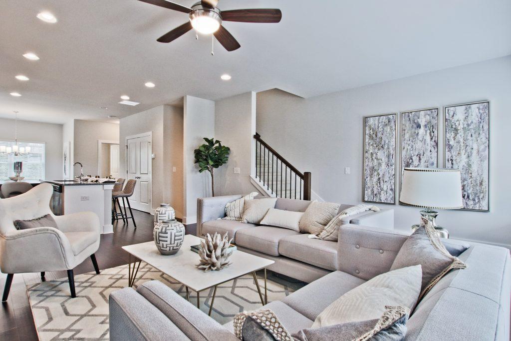 a cozy living room in kensington gates