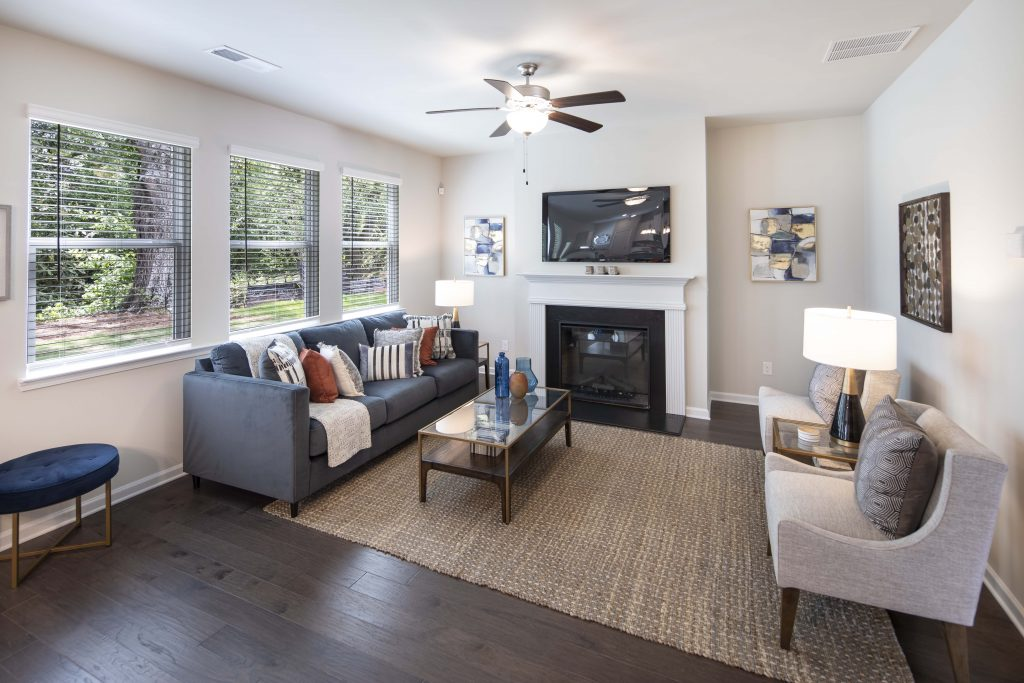 The Grove living room, just one of our available homes in metro atlanta