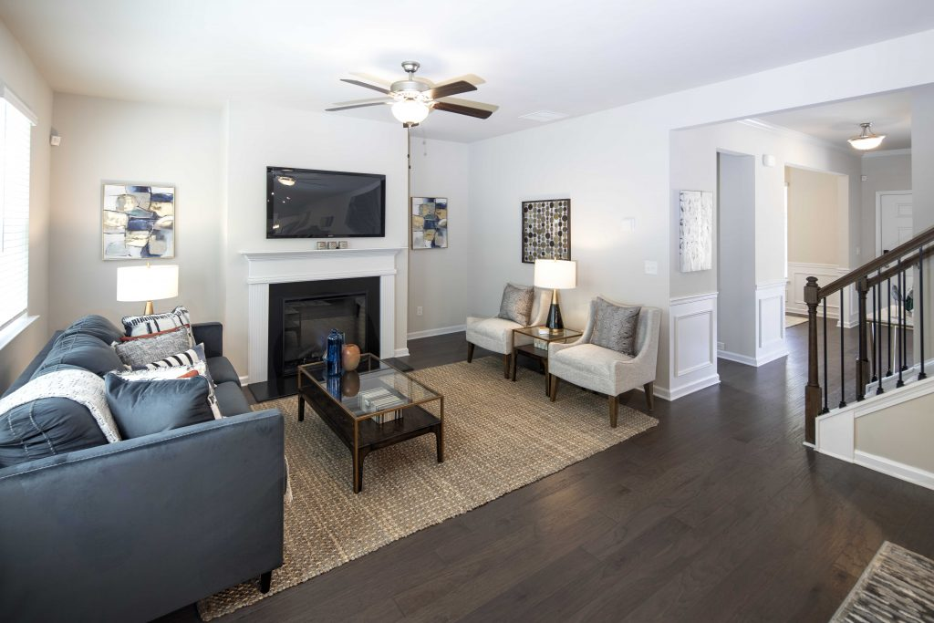 a living room in a new home in downtown jonesboro