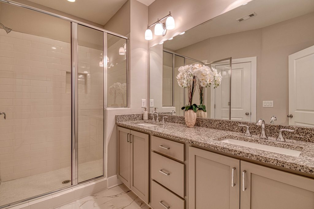 tile showers, standard feature in an eastland gates home