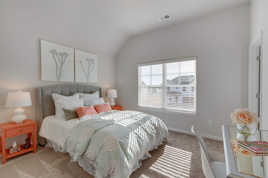 A bedroom in Trinity Park home