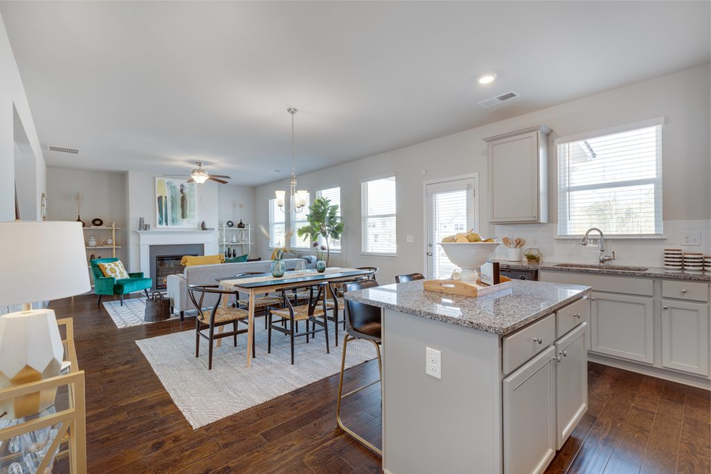 You can buy a new home with a dining room like this starting with your stimulus check