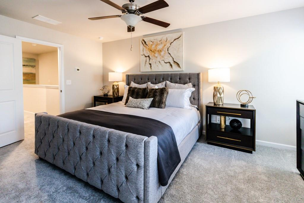 a bedroom in a south fulton townhomes in Carrington Pointe