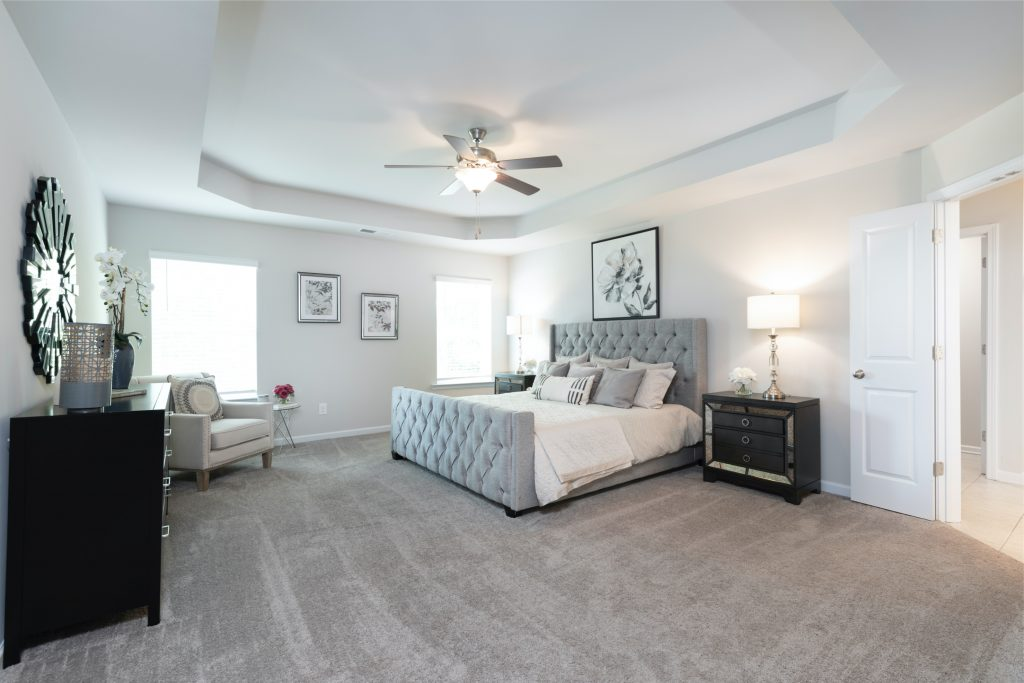 Master suite living in a new home in Stonecrest, Georgia