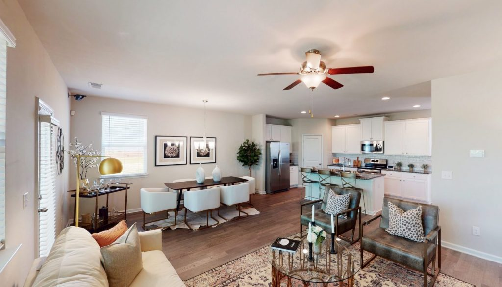 The rosedale is a new construction home in Rockhaven Homes community