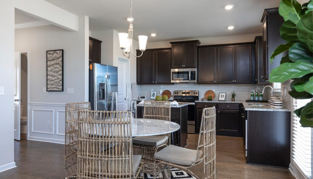 A stylish Rockhaven Homes new construction Kitchen in Atlanta