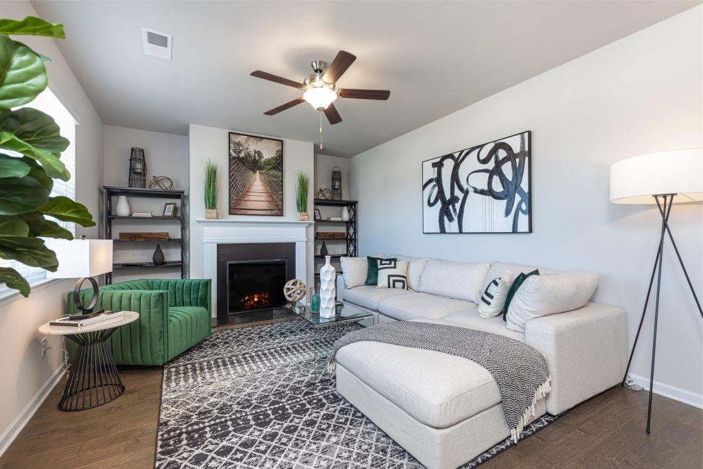 A living room in Cornerstone