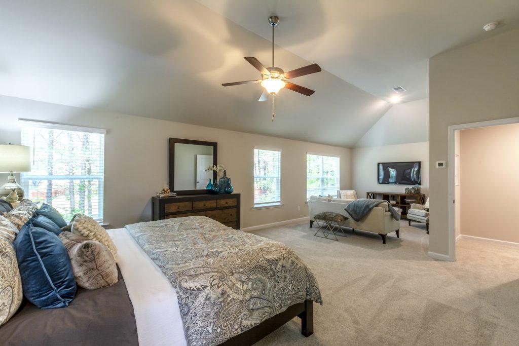 a bedroom in the wynbrooke floor plan