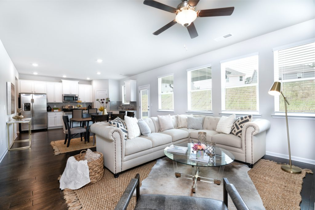 a living room perfect for entertaining guests