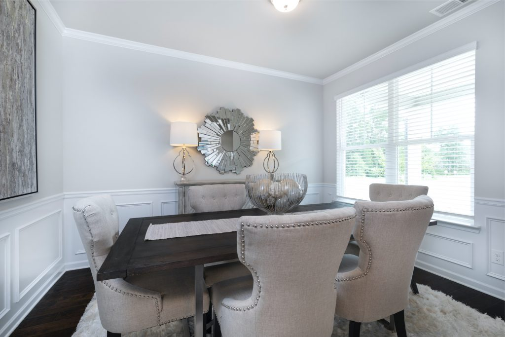 a dining room in a stonecrest single-family home